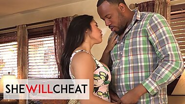 She Will Cheat - Busty Brunette Mia Little Loves Big Black Cocks Filling Her Tight Pussy