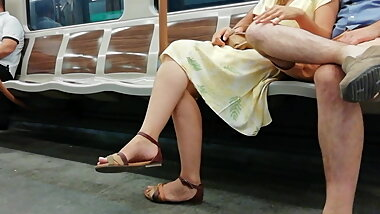 CANDID FEET #41 - TOUCHY TOUCHY