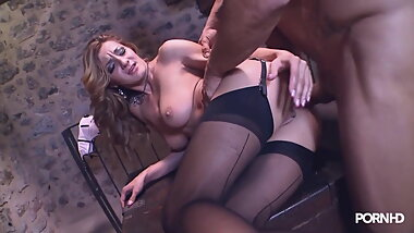 Black Stockings & Heels ALICE ROMAIN Hard Sex
