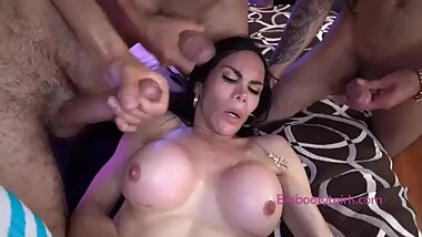 Big Booty Brazilian TS Teen Brutally Gang Banged After Workout